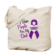 I Wear Purple For My Dad 18 (AD) Tote Bag