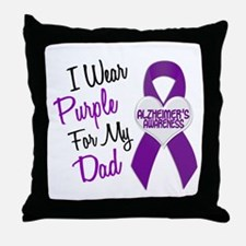 I Wear Purple For My Dad 18 (AD) Throw Pillow
