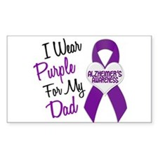 I Wear Purple For My Dad 18 (AD) Decal
