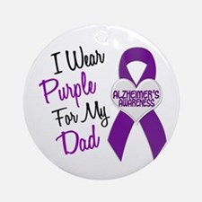 I Wear Purple For My Dad 18 (AD) Ornament (Round)