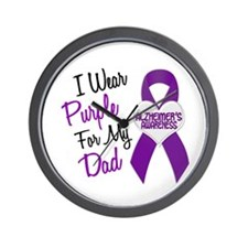 I Wear Purple For My Dad 18 (AD) Wall Clock