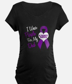 I Wear Purple For My Dad 18 (AD) T-Shirt