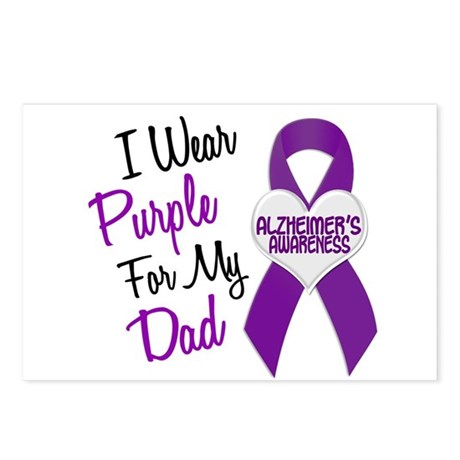 I Wear Purple For My Dad 18 (AD) Postcards (Packag
