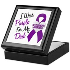 I Wear Purple For My Dad 18 (AD) Keepsake Box