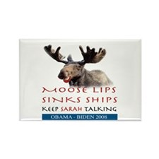 Moose Lips Sinks Ships Rectangle Magnet