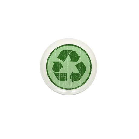 Distressed Recycle Sign Mini Button