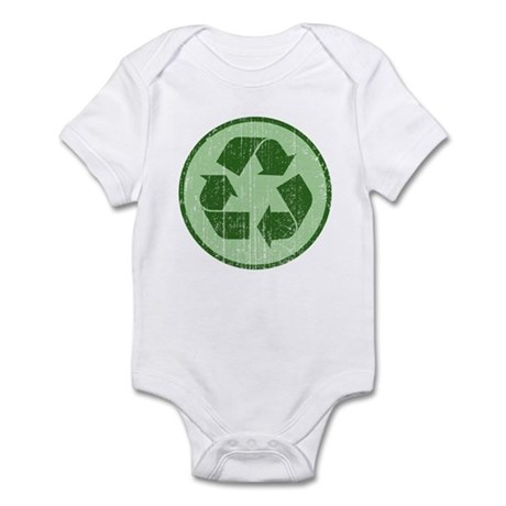 Distressed Recycle Sign Infant Bodysuit