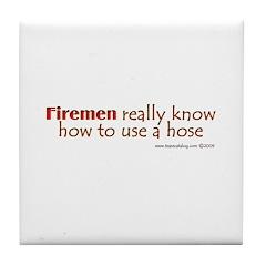 Firemen Tile Coaster