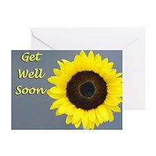 Sunflower Get Well Cards (Pk of 10)