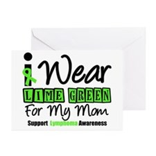 I Wear Lime Green For Mom Greeting Cards (Pk of 10