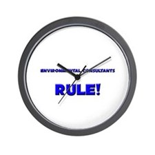 Environmental Consultants Rule! Wall Clock
