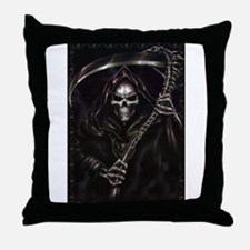 grim reaper poster Throw Pillow