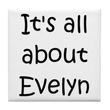 Cute Evelyn Tile Coaster