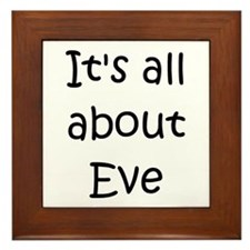 Cute All about eve Framed Tile