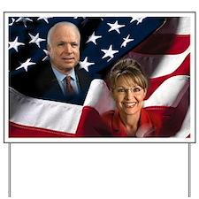 McCain Palin Flag Yard Sign