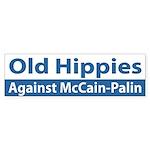 Old Hippies Against McCain-Palin bumper sticker
