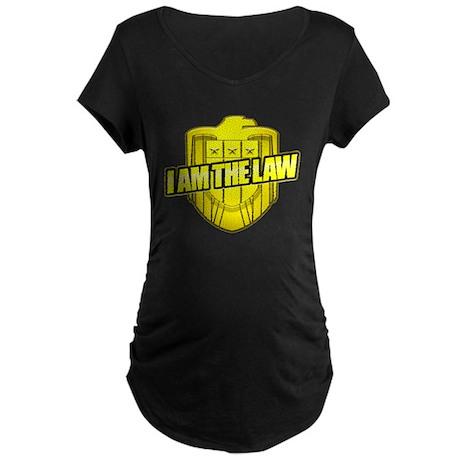 I AM THE LAW: Judge Dredd Maternity Dark T-Shirt