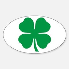 Four Leaf Clover Oval Decal