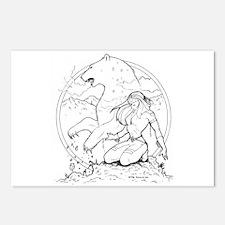 Ink Bear Totem Postcards (Package of 8)