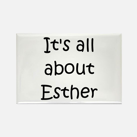 Cute Esther Rectangle Magnet