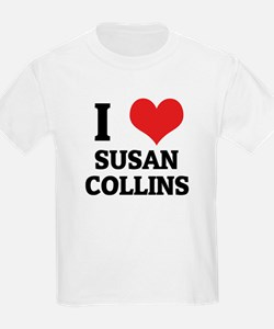 I Love Susan Collins Kids T-Shirt