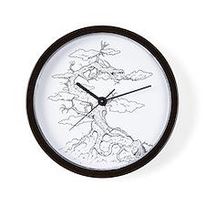 Ink Dragon Tree Wall Clock