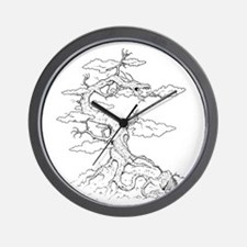 Ink Dragon Tree Wall Clock