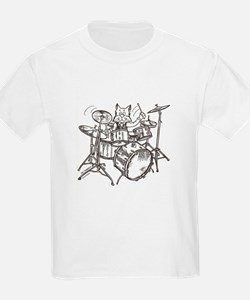 Catoons drums cat T-Shirt
