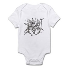 Catoons drums cat Infant Bodysuit