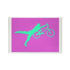 PINK GREEN BMX Rectangle Magnet