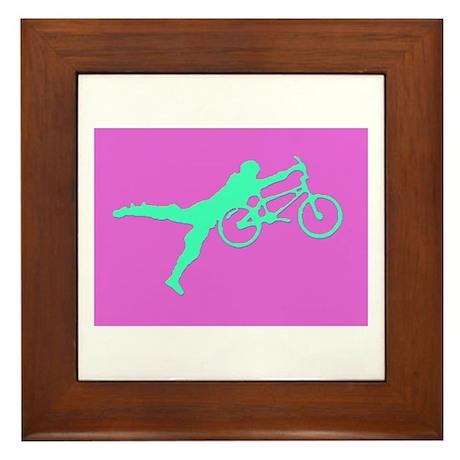 PINK GREEN BMX Framed Tile