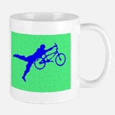 PAINTED GREEN BLUE BMX Mug
