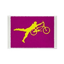PAINTED PURPLE YELLOW BMX Rectangle Magnet