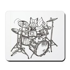 Catoons drums cat Mousepad