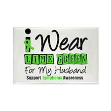 I Wear Lime Green Husband Rectangle Magnet