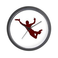 RED DISC CATCH Wall Clock