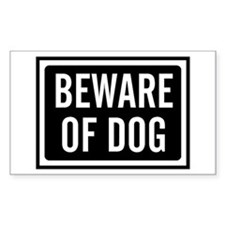 Beware of Dog Decal