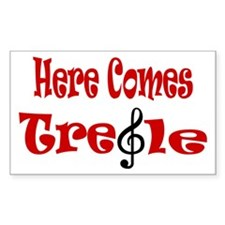 Here Comes Treble Rectangle Decal
