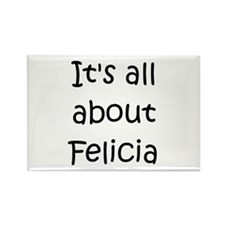 Unique Felicia Rectangle Magnet