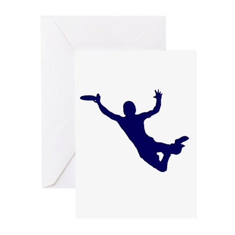 BLUE DISC CATCH Greeting Cards (Pk of 10)
