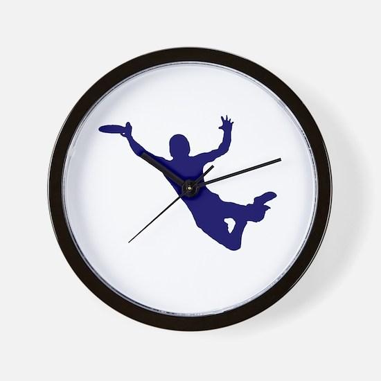BLUE DISC CATCH Wall Clock