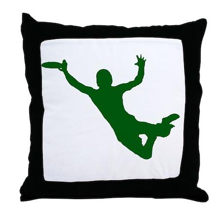 GREEN DISC CATCH Throw Pillow