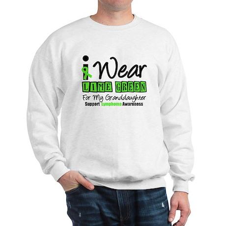 I Wear Lime Green Granddaughter Sweatshirt