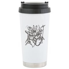 Catoons drums cat Travel Mug
