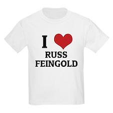 I Love Russ Feingold Kids T-Shirt