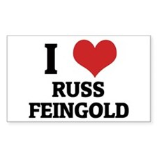 I Love Russ Feingold Rectangle Decal