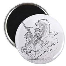 "Ink Winged Hussar 2.25"" Magnet (100 pack)"