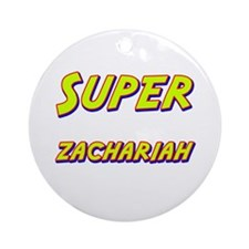 Super zachariah Ornament (Round)