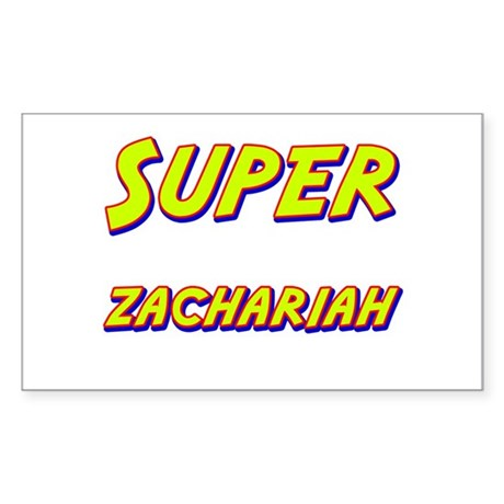 Super zachariah Rectangle Sticker