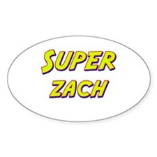 Super zach Oval Decal